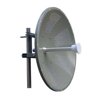 Dual Pol. 4.9-6.4GHz MIMO solid dish parabolic antenna 32 dbi
