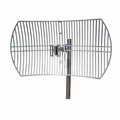 2.5-2.7 GHz grid parabolic dish antenna 24 dBi, die-cast