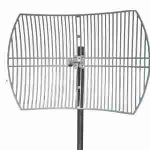 2.4-2.5 GHz grid parabolic antenna 27 dBi die-cast