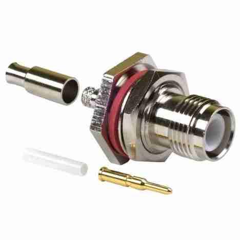 RP TNC Female Bulkhead Crimp Connector for RG174/188/316 LMR100 Cable