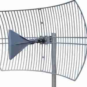 600-6500 MHz Grid Parabolic Antenna 15 dBi to 26 dbi