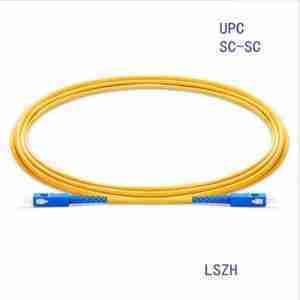 1m (3ft) to 5 M(15 ft) SC/UPC to SC/UPC Duplex Single Mode PVC 3.0mm Fiber Optic Patch Cable ; G652D